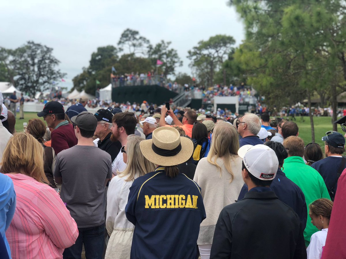 Always standing out in the crowd @UMich @UMichAthletics @ValsparChamp