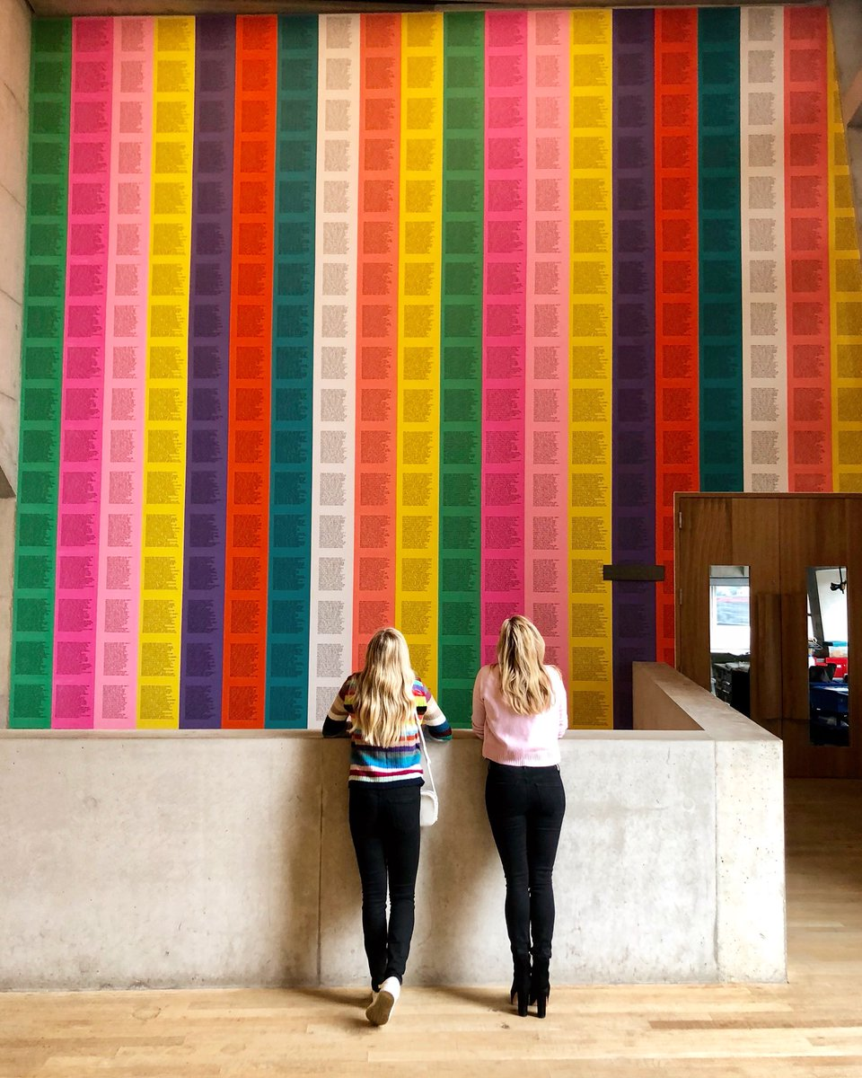 Spending #mothersdayUK with my girl, at @tate London. 🌈 by #jennyholzer 💕