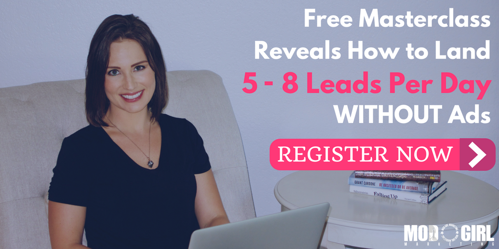 Ready to land 6 figure #clients? Join Mod Girl® Founder & CEO @MandyModGirl for our free #LeadGen Mod Masterclass: https://t.co/MIRrTUKfMn