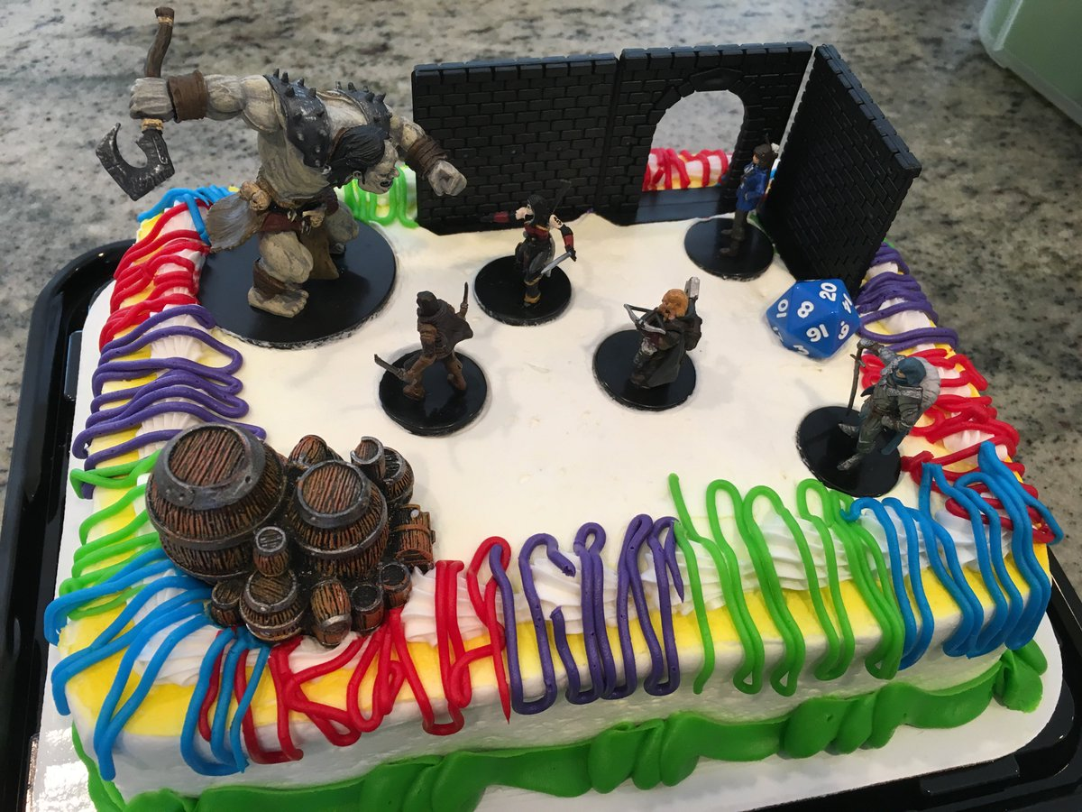 John Kovalic On Twitter Running My 5e Campaign Today One Of Players Birthday Was Yesterday Gaming Means Always Having Cake Decorations Hand