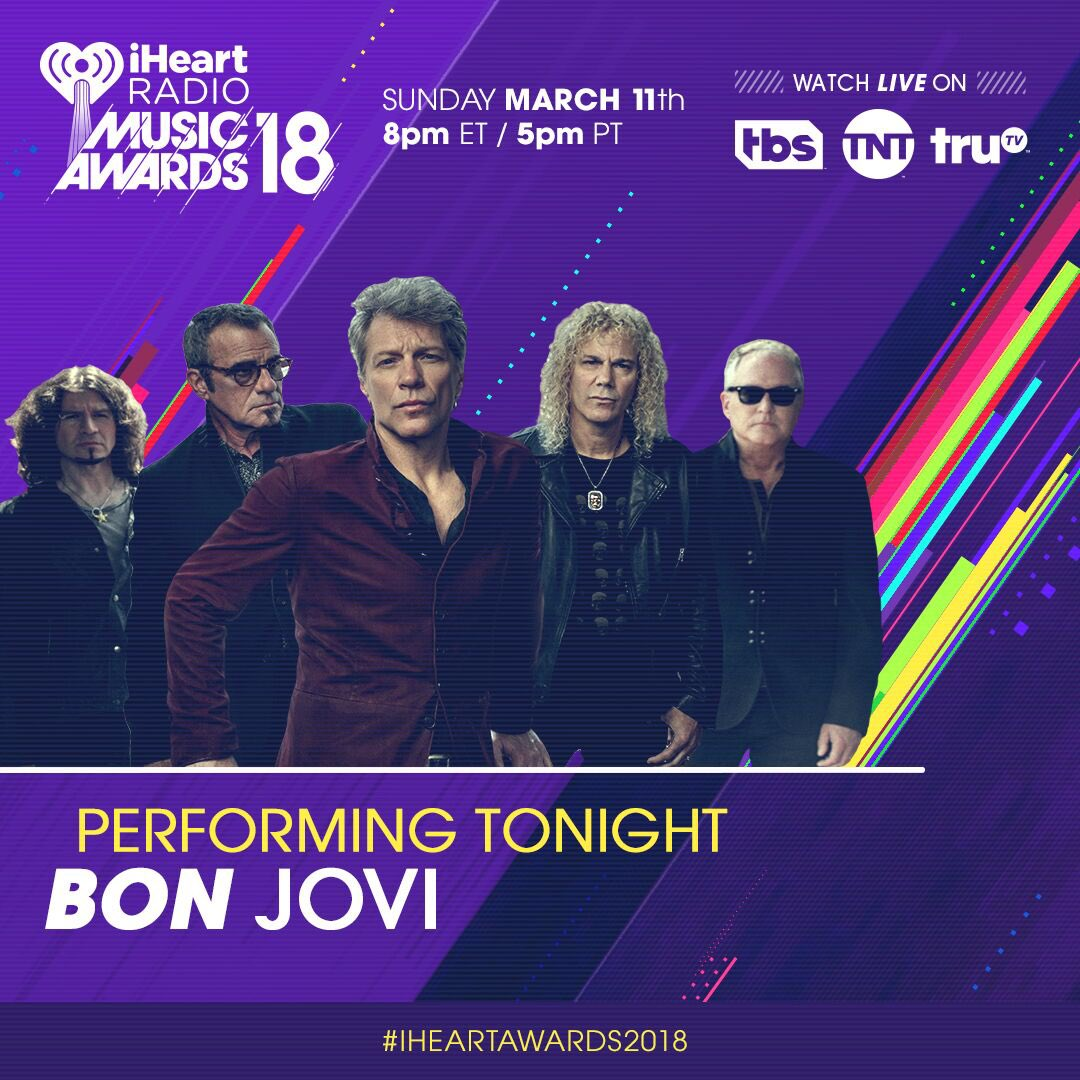 Stop everything and turn on @tbsnetwork! It's time for the #iHeartAwards2018! https://t.co/vKSrEze2E3
