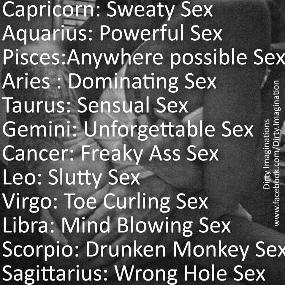 What Your Zodiac Sign Says About Your Sexual Personality