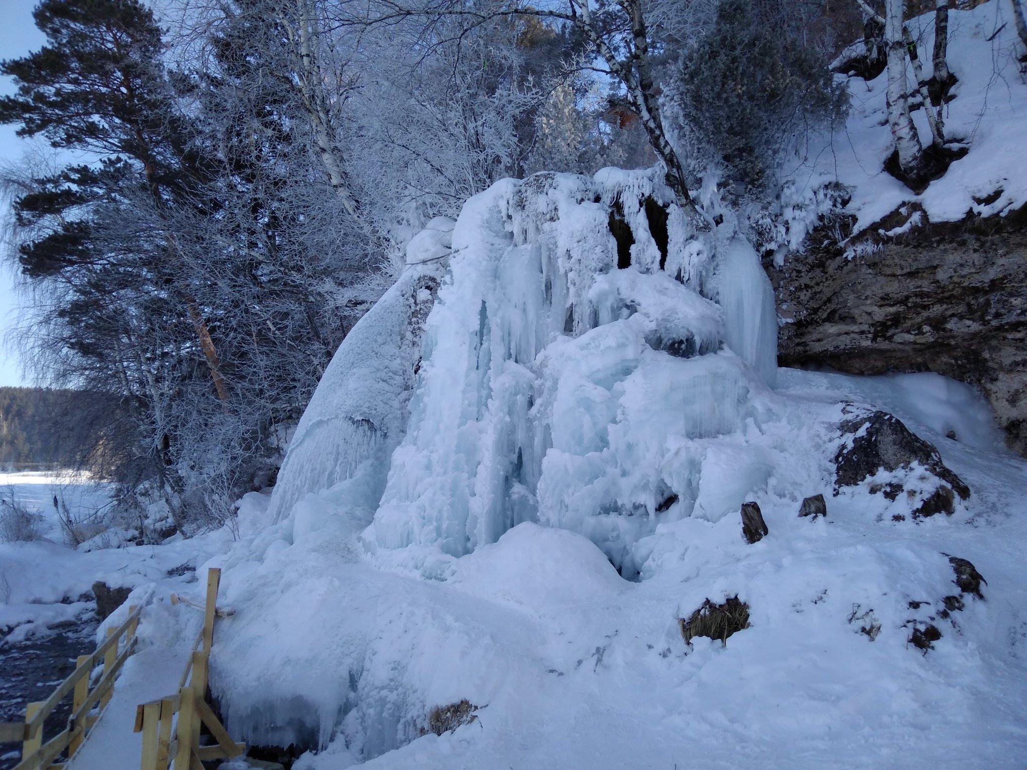 этой команды карпысак водопад фото зимой всё только