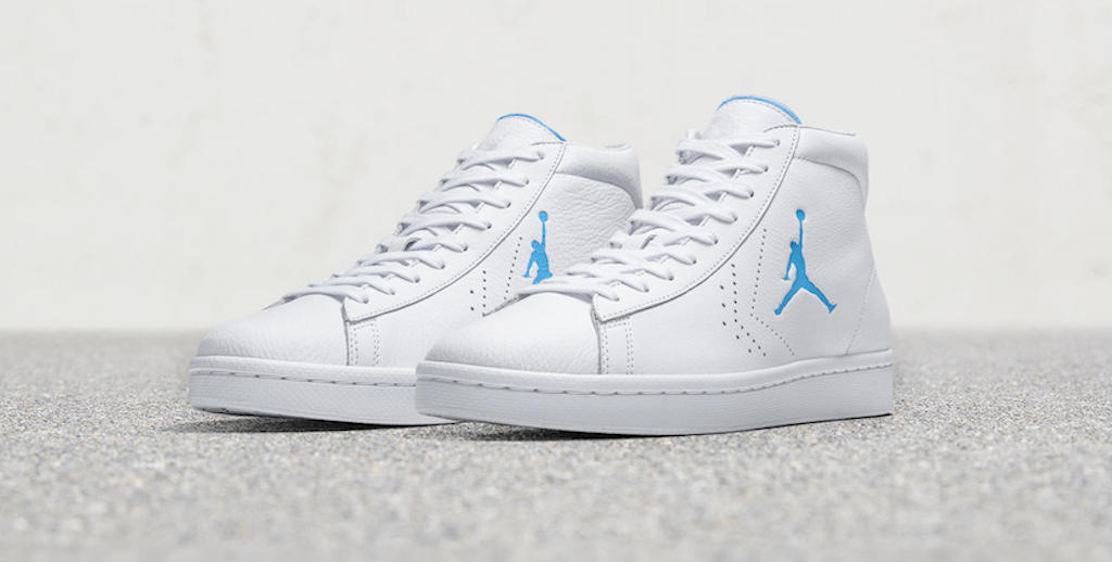 a651e7443c48 converse birth of michael jordan pro leather honors unc s 1982 ncaa title  more