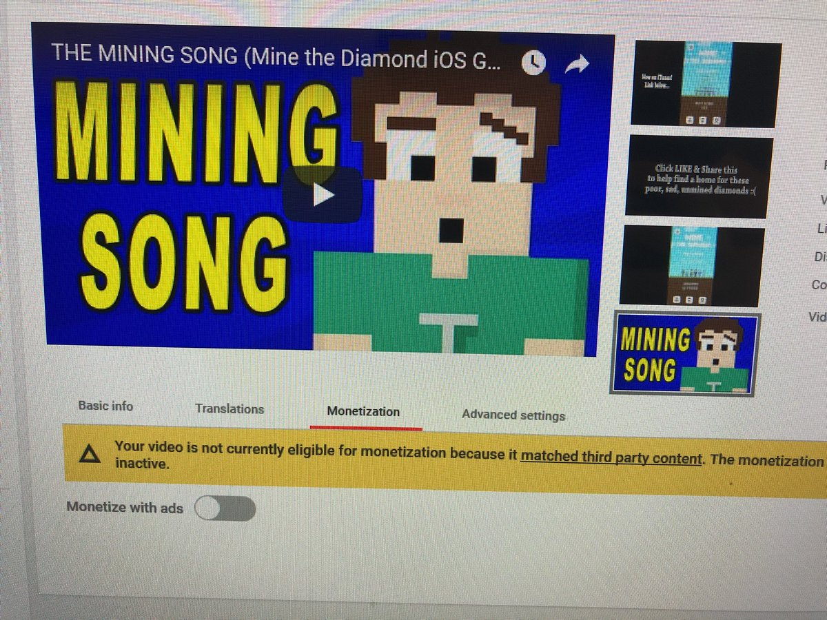 My music that I've created, and videos I made for the songs, are demonetized because they matched 'third party content' that isn't eligible for dispute. Do you guys have employees anymore? @YTCreators