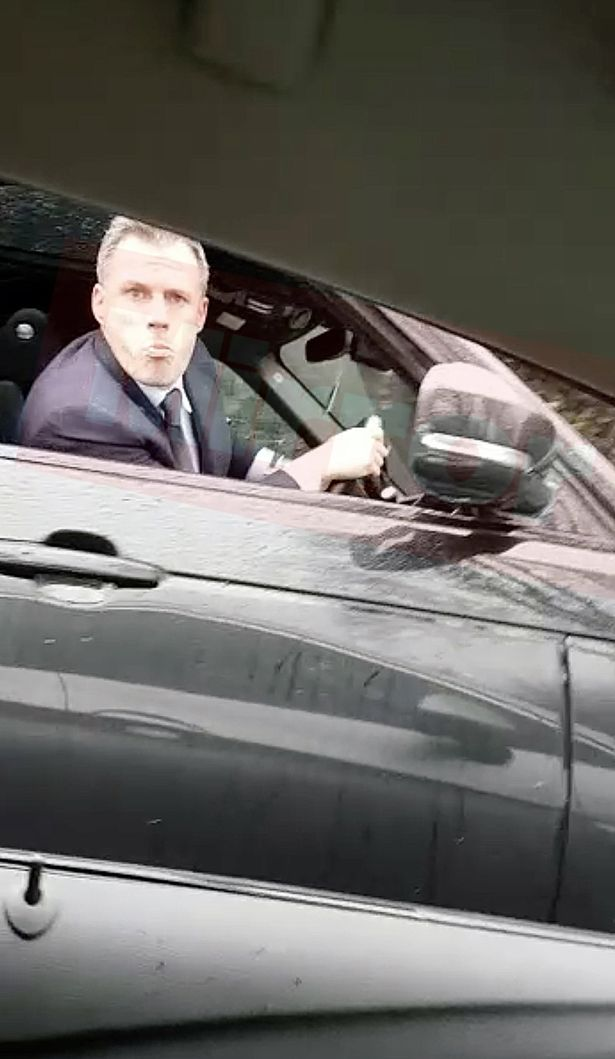 EXCLUSIVE: Jamie Carragher spits at football fan and his 14-year-old daughter in shocking video following Liverpools defeat to Manchester United mirror.co.uk/sport/football…
