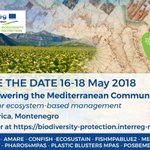 Are you interested in #biodiversity Protection in the #Mediterranean? SAVE THE DATE & Sign me up to the upcoming @MEDCommunity3_2 @MEDProgramme event: EMPOWERING THE MEDITERRANEAN COMMUNITY: TOOLS FOR ECOSYSTEM-BASED MANAGEMENT - Montenegro 16-18 May 2018  https://t.co/TwfEqBvfUR