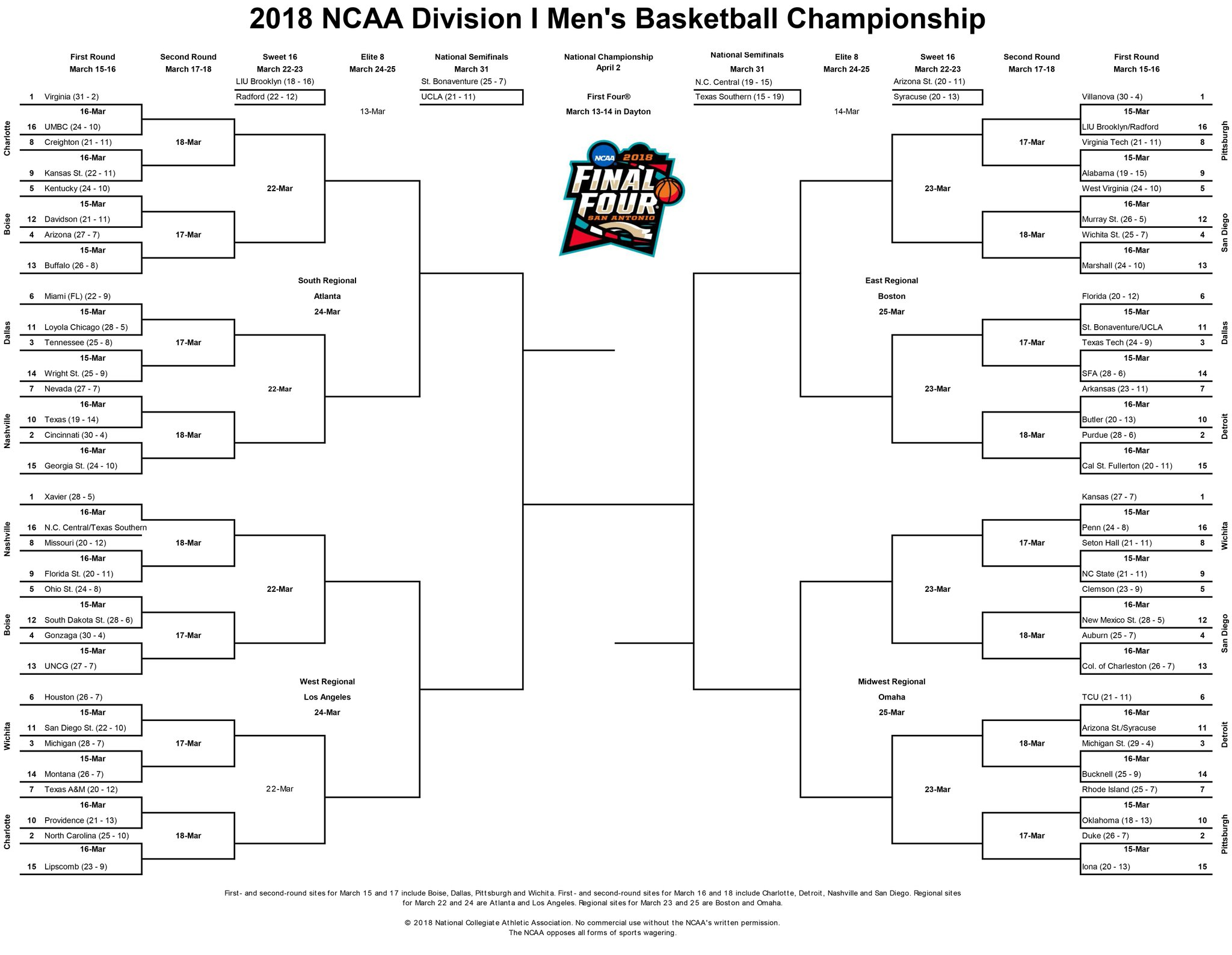 It is an image of Clean Printable Ncaa Bracket With Records