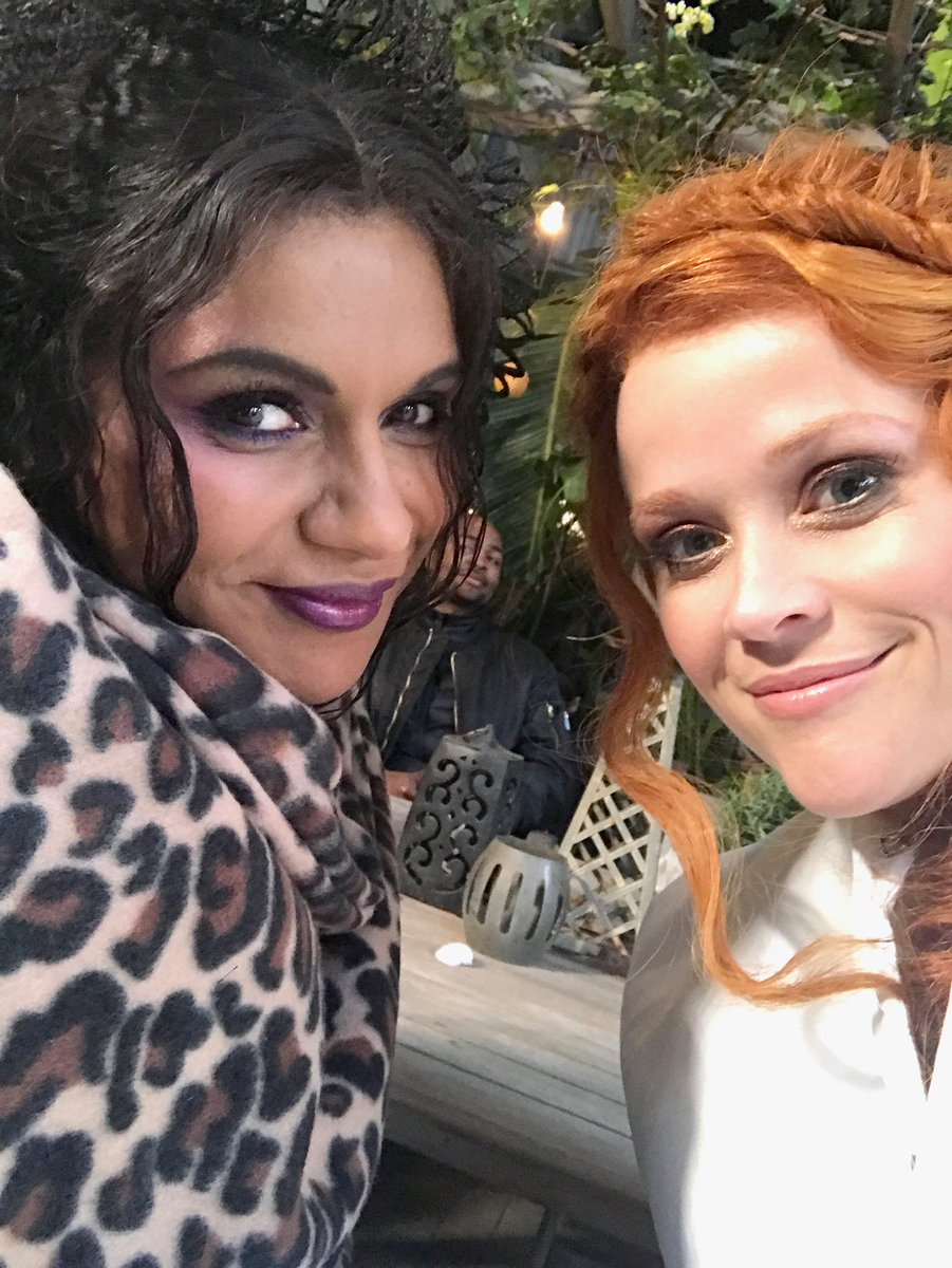 Aww - had so much fun with @mindykaling & all of the incredible cast! Hope you love the film! Thank you @ava for bringing us together & bringing this special film into the world! @WrinkleInTime 💫✨