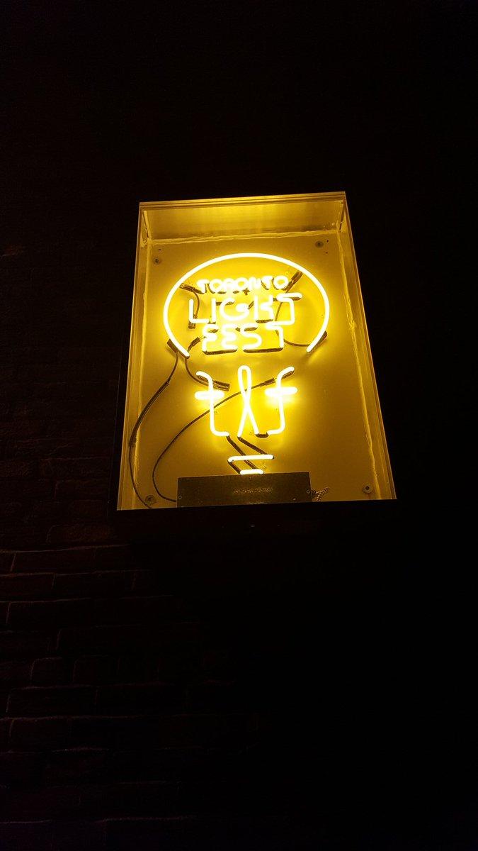 The #Toronto Lights Festival sign
