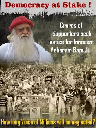 Sir,     Even after #AsaramBapuVerdict, millions of people still support the innocent Saint.  Obviously, there's some SOLID REASON behind this #HugeSupportToBapuji...<br>http://pic.twitter.com/oXHLHBozM6