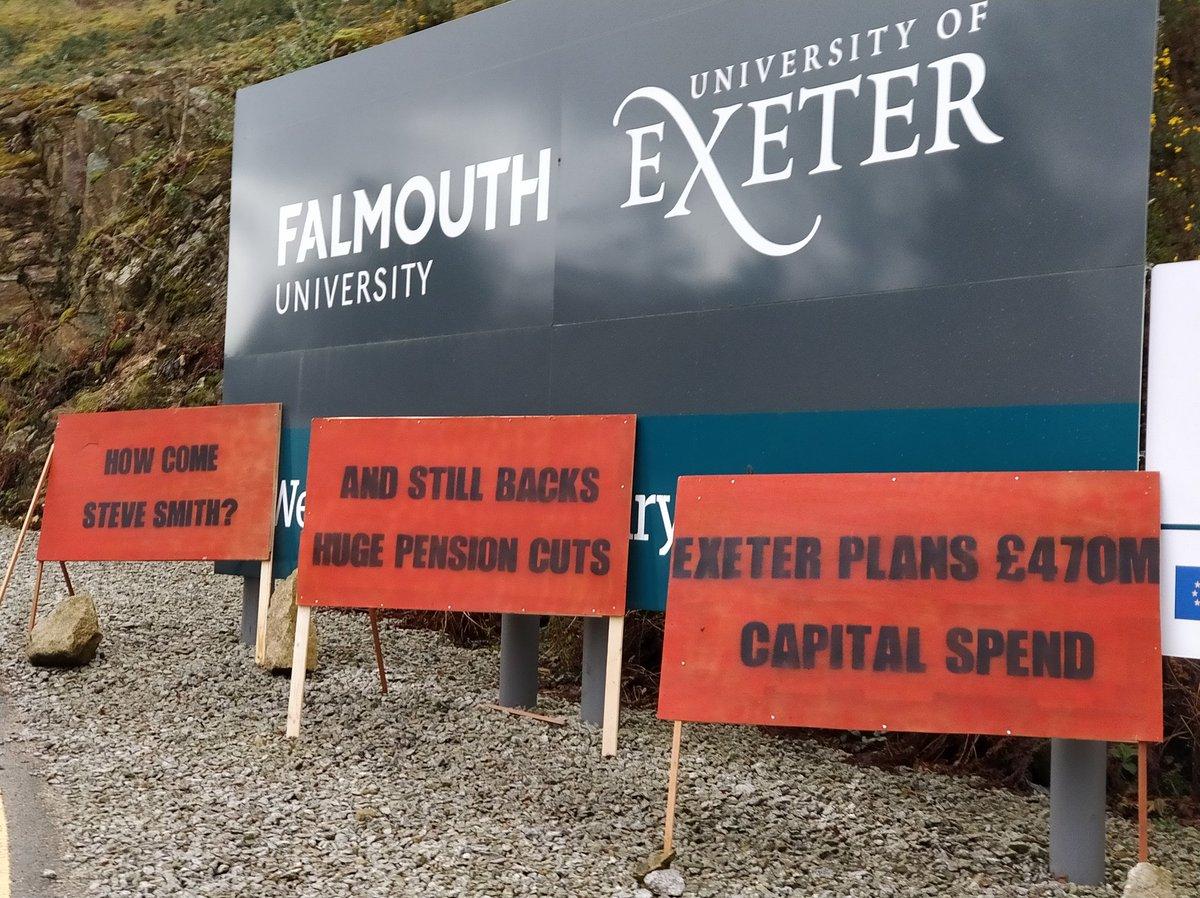 3 billboards outside Penryn Campus, Exeter University
