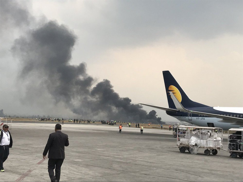 US Bangla Plane Crash in Tribhuvan International Airport