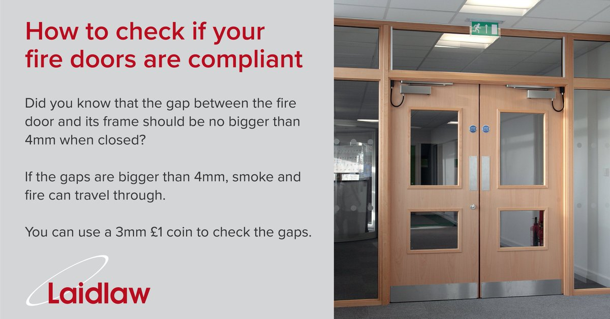 There are some simple steps you can take to find out if your #firedoors are compliant. Take a look at our #firemongery range brochure for more advice ... & Laidlaw UK (@laidlaw_uk) | Twitter