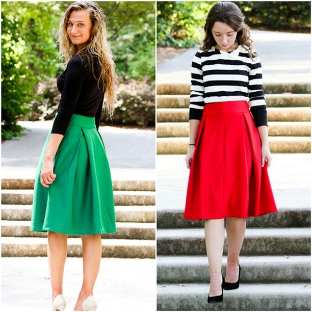 c24e82f9d5c7 VINTAGE PLEATED MIDI SKIRTS available in Red and Green here:  http://crwd.fr/2FLAxaJ #vintage #skirts #sale #modestclothing  #modestfashion ...