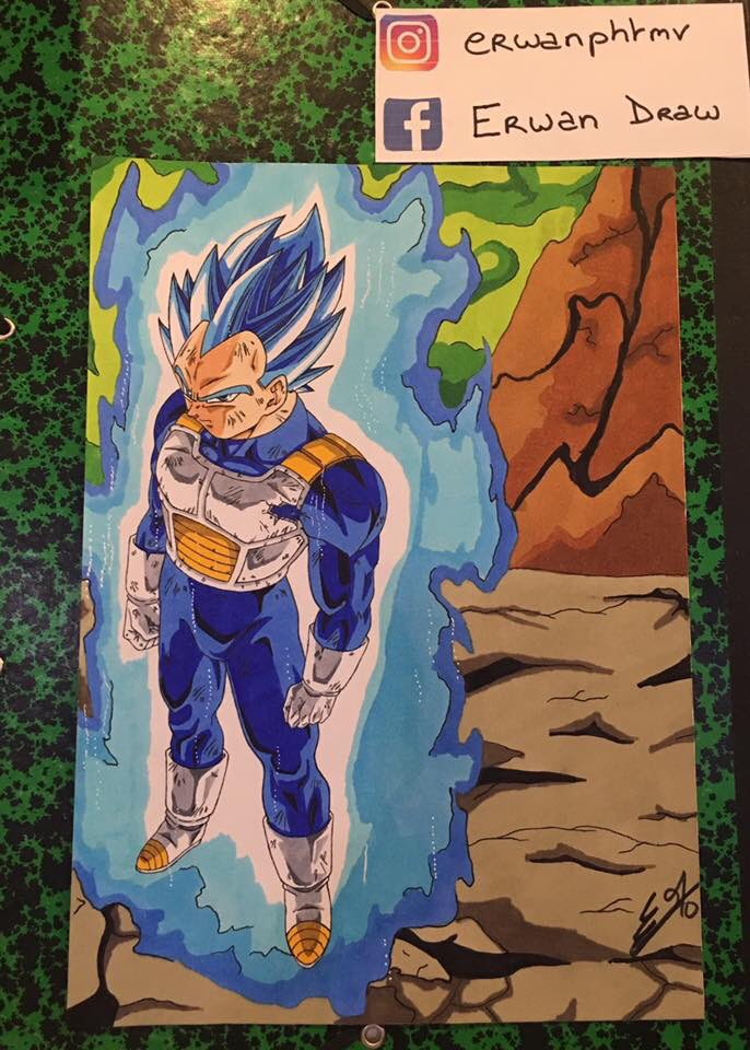 Erwan On Twitter Vegeta Super Saiyan Blue Full Power