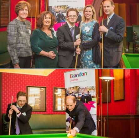 Prince Edward couldn't resist playing a few shots in our Snooker Room on his visit! The Earl met Bonnie Dean Obe, Zoe Warman, Alexander Warman and Izzy Clarke from @BrandonTrust one of our nominated charities. #royalvisit #princeedward #thecliftonclub200 #bristol #royalfamily