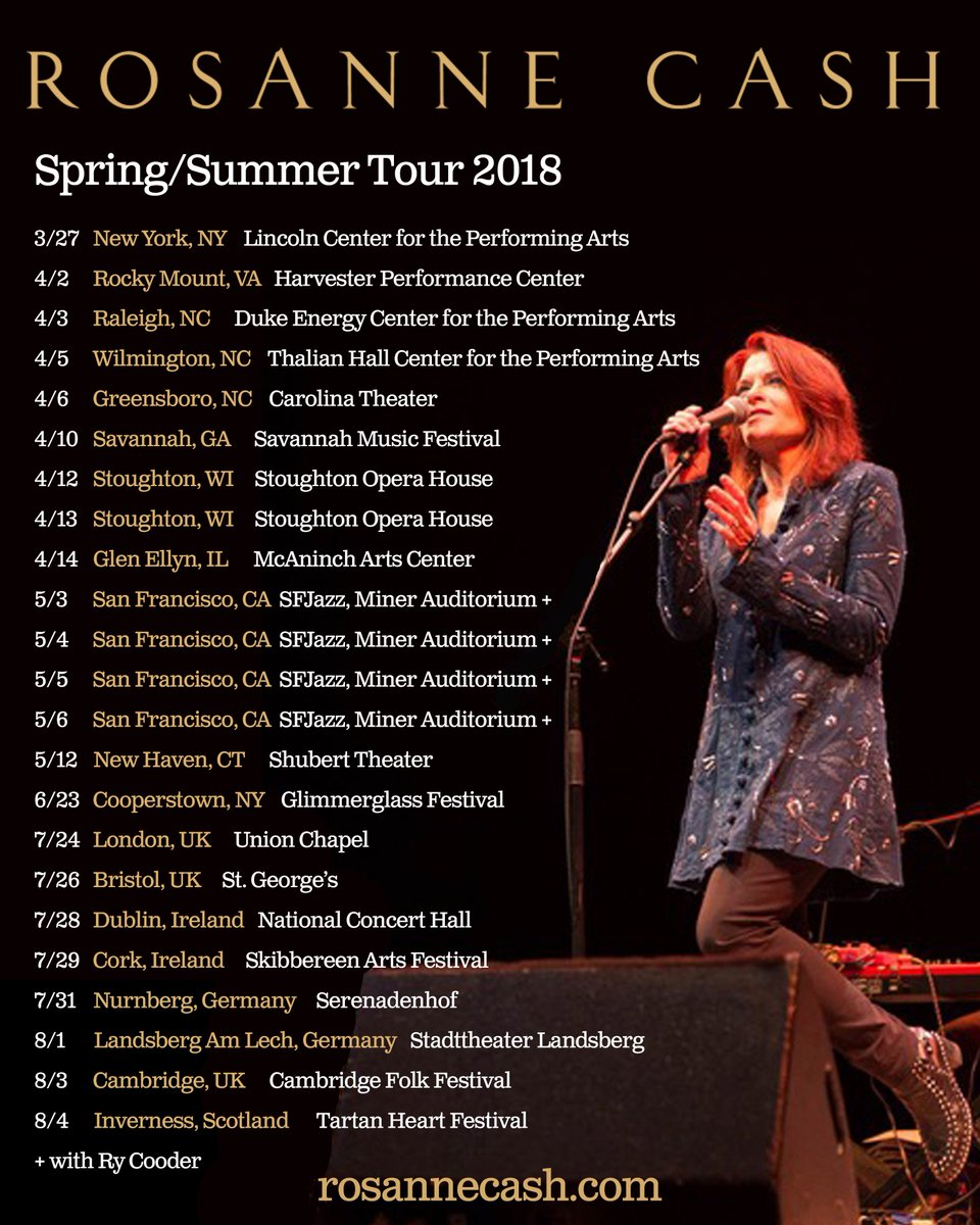 Spring/Summer tour dates up. Raleigh to...