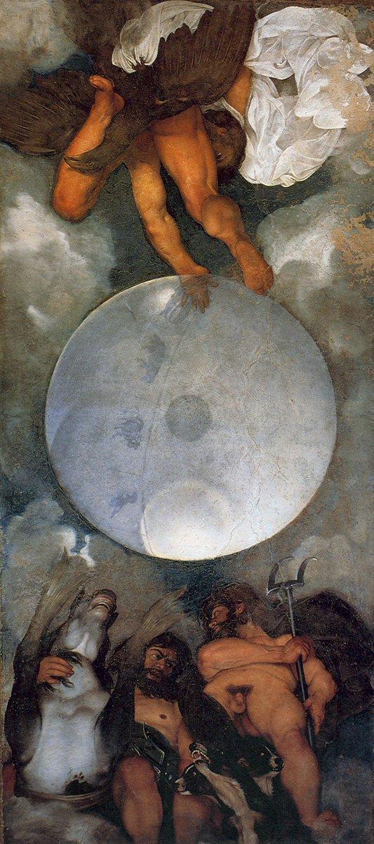 Giove, Nettuno e Plutone è un dipinto attribuito a Caravaggio da Bellori, conservato nel casino di Villa Ludovisi, a Roma.  È lunica pittura murale eseguita dallartista, databile al 1597. Per info Amministrazione Boncompagni Ludovisi Tel. 06483942 tatiana@principedipiombino.com