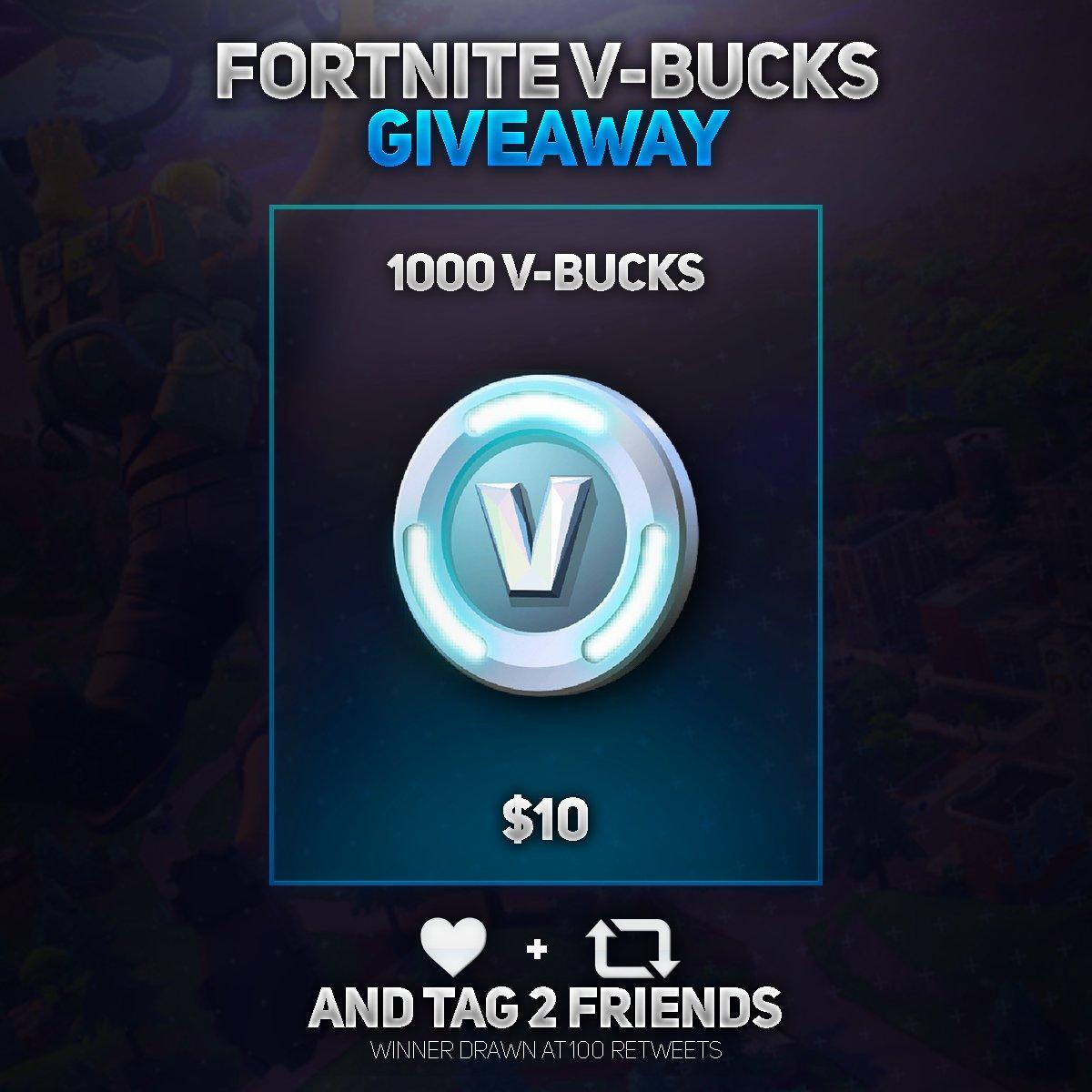 Fortnite Daily Items On Twitter V Bucks Giveaway 1000 V