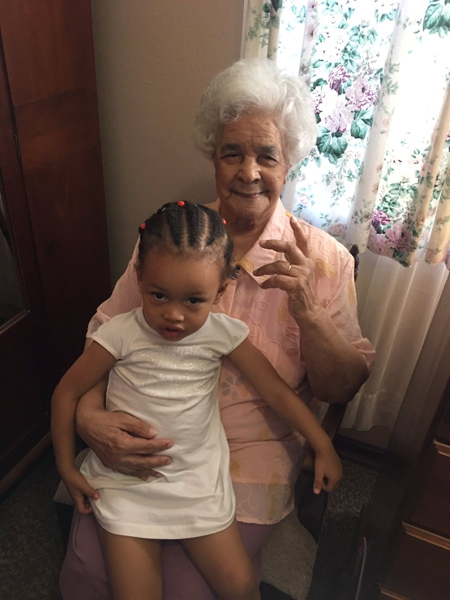 Today I took Kairo to see her GREAT GREAT GRANDMOTHER. MEITA ELIZABETH REED who turns 105 tomorrow. What a privilege and a blessing. ❤️