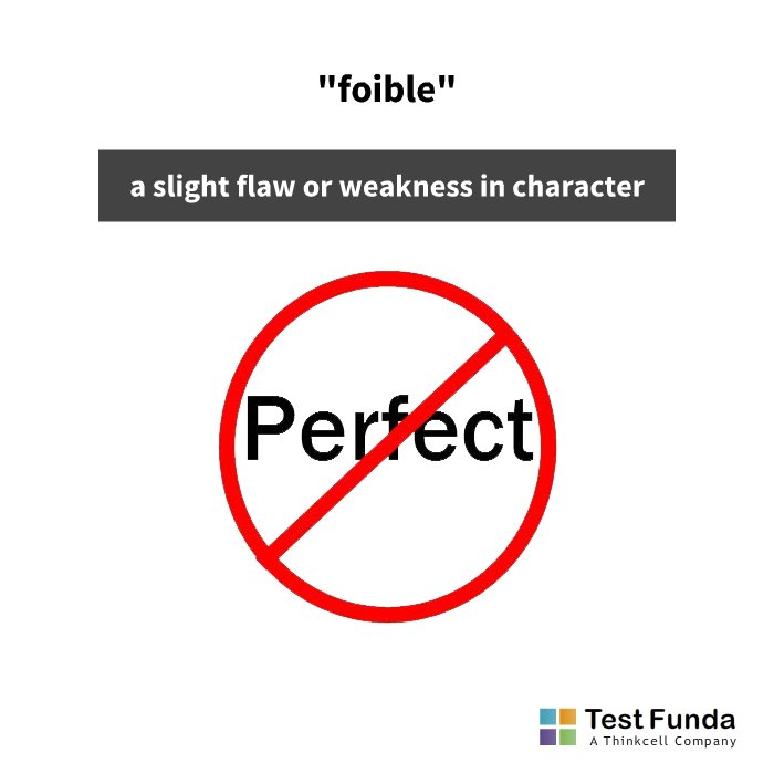 Smoking Is The Foible That Prevents Jenna From Being Healthy. #learn A New  #word Everyday With #TestFundau0027s #WordOfTheDay #foible #learnaword #CAT2018  ...