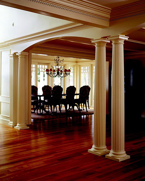 ... Fluted Wooden Columns. This Project Was Featured On The Television  Series, This Old House. Photograph Courtesy Of Pascal Blancon   #Columns # Interior ...