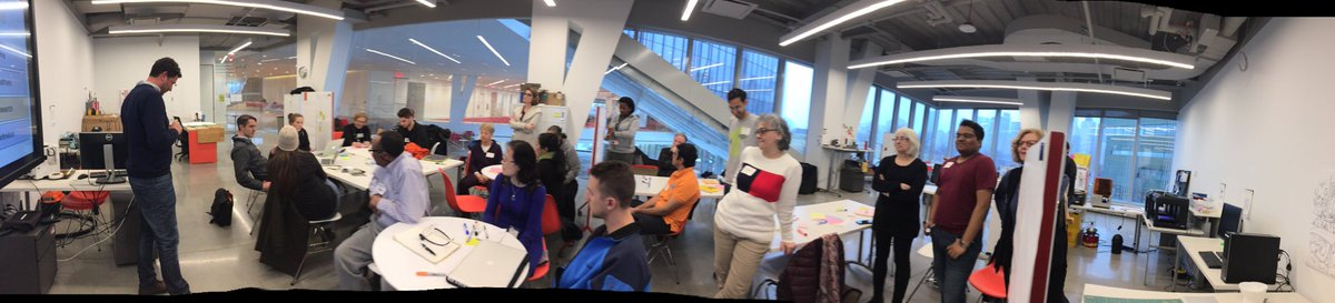 Very excited to kick off making with this diverse group of students this month in 3d Printed Life Hacks workshop in MakerLAB @cornell_tech @WeillCornell #rooseveltisland #seniors #3Dprinting