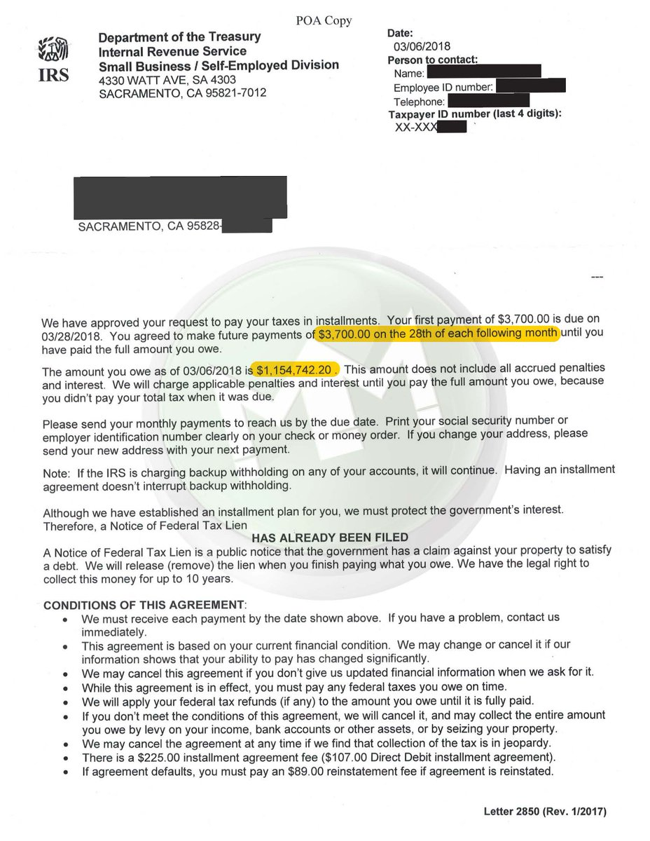 Mm Financial On Twitter Another Irs Partial Payment Installment