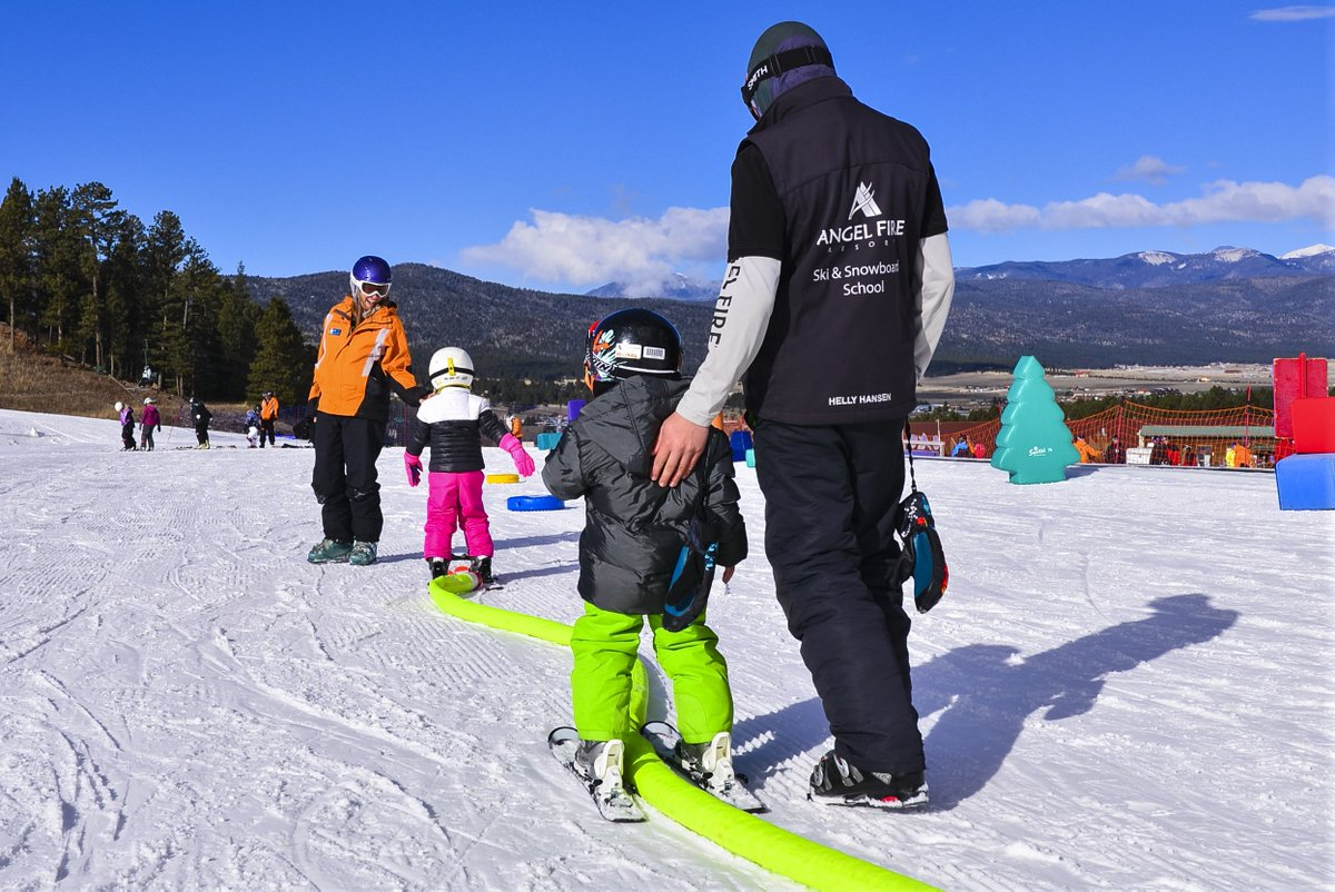 "angel fire resort on twitter: ""first time skier this spring break"