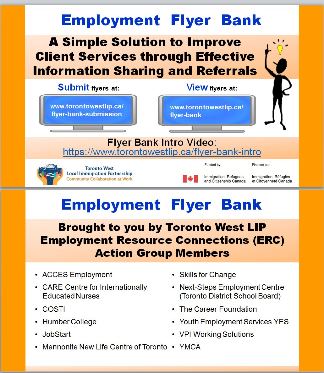 employment flyer bank created by the toronto west lip submit flyers http www torontowestlip ca flyer bank submission view flyrs