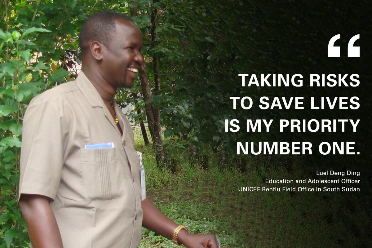 💯 Meet our inspiring colleague Luel working tirelessly #ForEveryChild in South Sudan → uni.cf/2p90V3B #FacesOfUNICEF