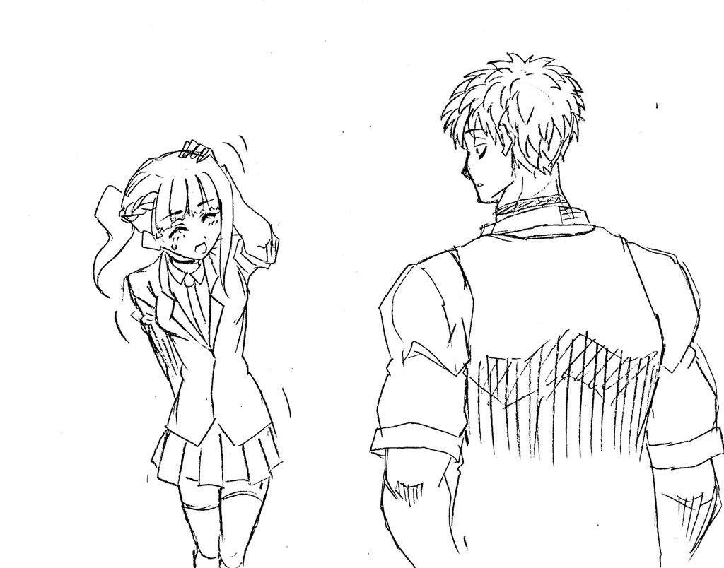 「あっこ、こんにちは〜…ケイジさん…えへへ…」 「んー…?妙に愛想がいいねー…サラちゃん」