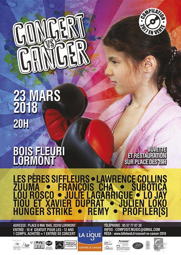 """Vendredi 23 mars à 20h, la 17e édition de """"Concert vs Cancer"""" réunira sur scène 30 artistes pour une soirée de musique, de chansons et de partage. @LigueCancer33 #solidarité #recherche #santé #concert #musique #cancer https://t.co/kiSQHFW4JG"""