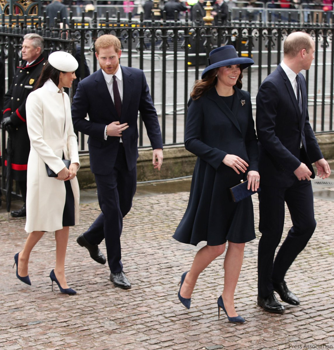 The Duke and Duchess of Cambridge, Prince Harry and Ms. Meghan Markle arrive at @wabbey for the #CommonwealthDay Service. The Commonwealth Service is the largest annual inter-faith gathering in the United Kingdom.