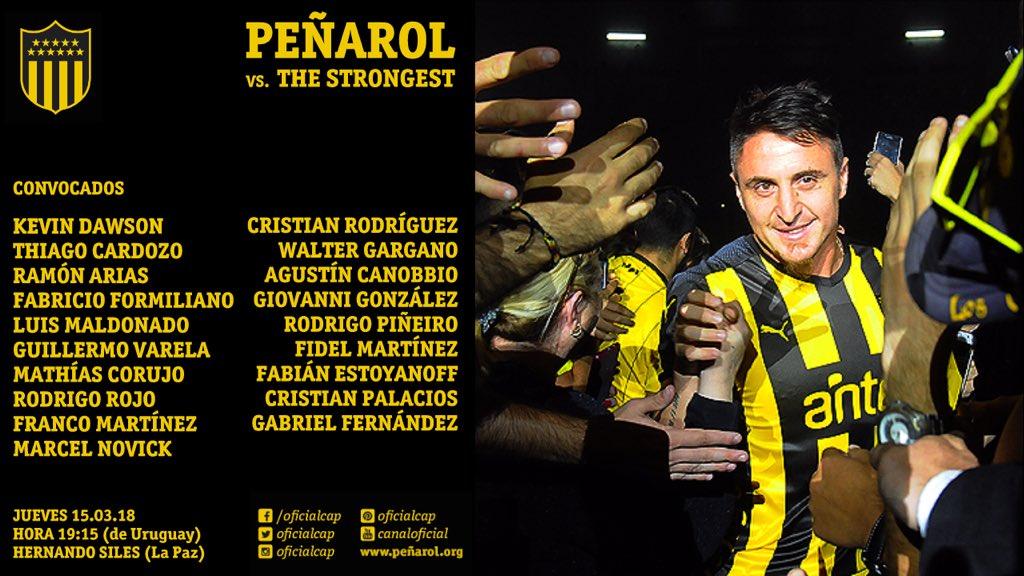 Convocados de Peñarol para alistar debut en Copa CONMEBOL Libertadores