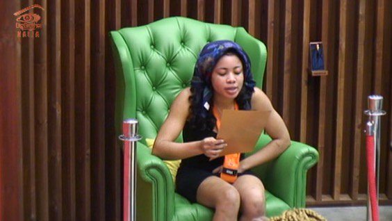 Image result for #BBNaija: Nina wins head of house for this week,