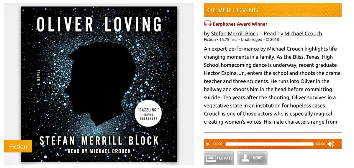 Adult audio book fiction speaking