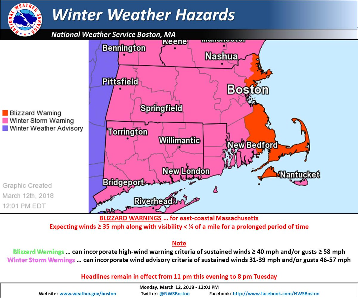 2017 winter storm watch Blizzard Warning Ahead Of Third NorEaster, Over A  Foot Of Snow