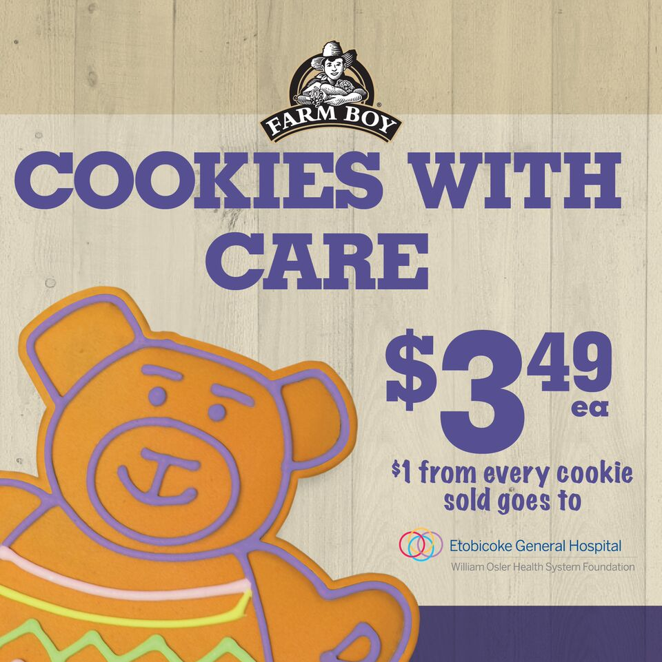 Carolyn trudel carolyntrudel twitter for a limited time farmboy is selling cookies with proceeds from each sale going towards etobicoke general hospitals redevelopment falaconquin