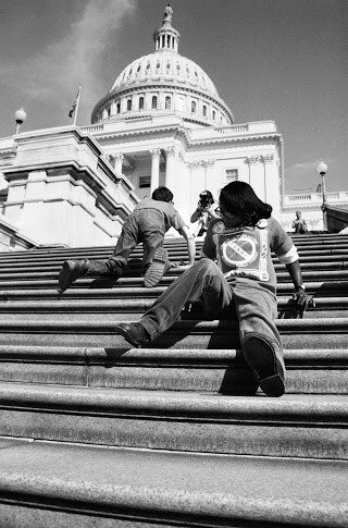 28 yrs ago today, disability advocates left their wheelchairs and climbed the inaccessible steps of the Capitol to fight for the passage of the Americans with Disabilities Act. I'll continue to protect the #ADA and the civil rights it promises. #CapitolCrawl