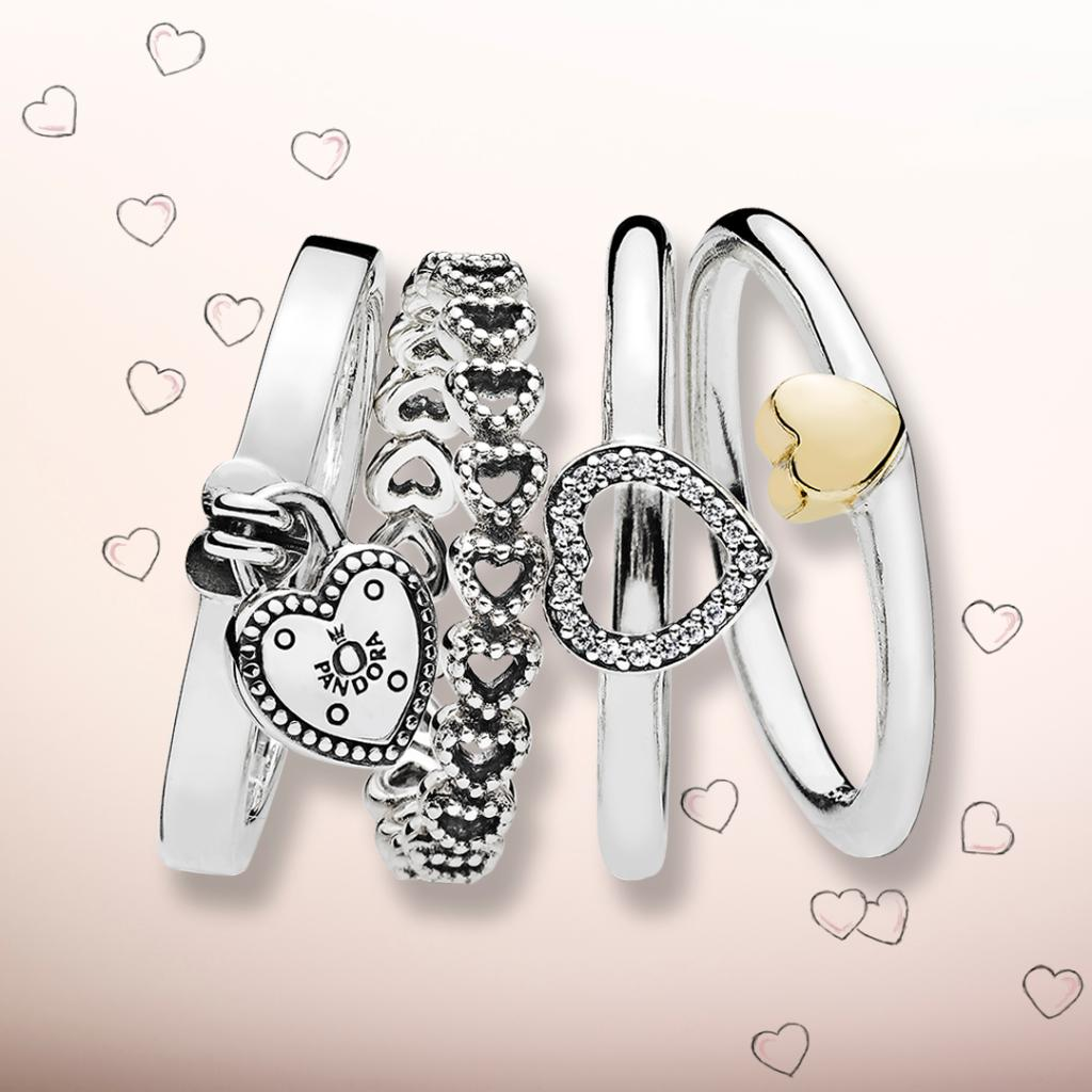 e99dd8aef ... real pandora jewellery uk on twitter these romantic stacking rings have  captured our hearts t.