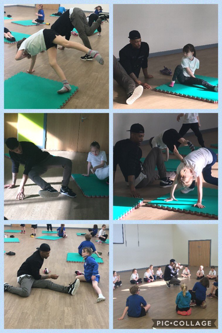A group of year 4 children enjoyed a fantastic break dancing master class last week with Leon #breakdancing #schoolsport @StMartinsChest1 @DelamereAcademy @NWATrust