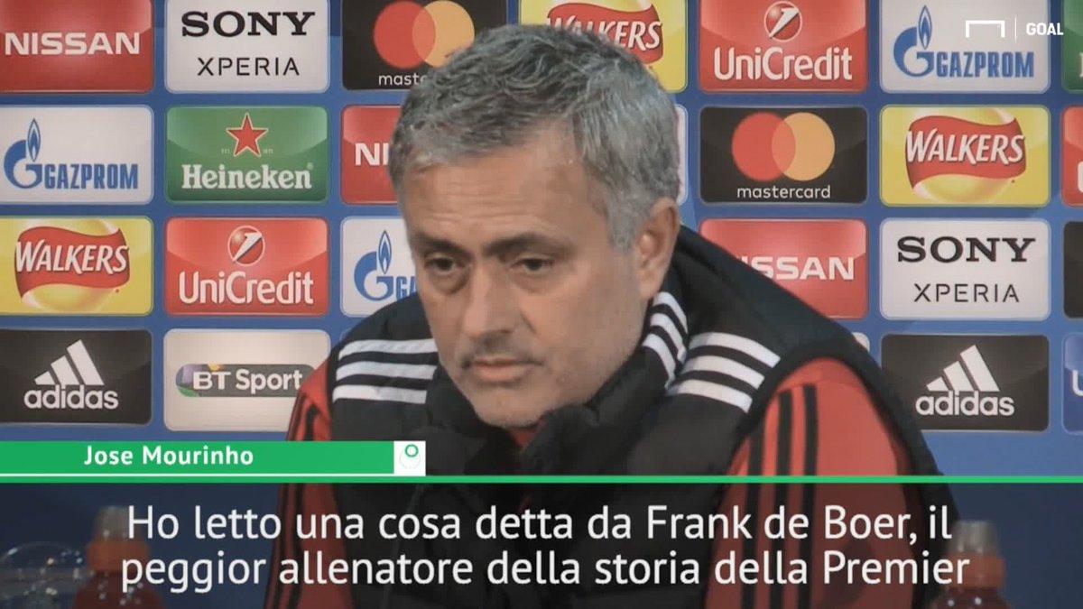 Ho letto una cosa detta da Frank de Boer, il peggior allenatore della storia della Premier... Mourinho distrugge De Boer in conferenza 😲
