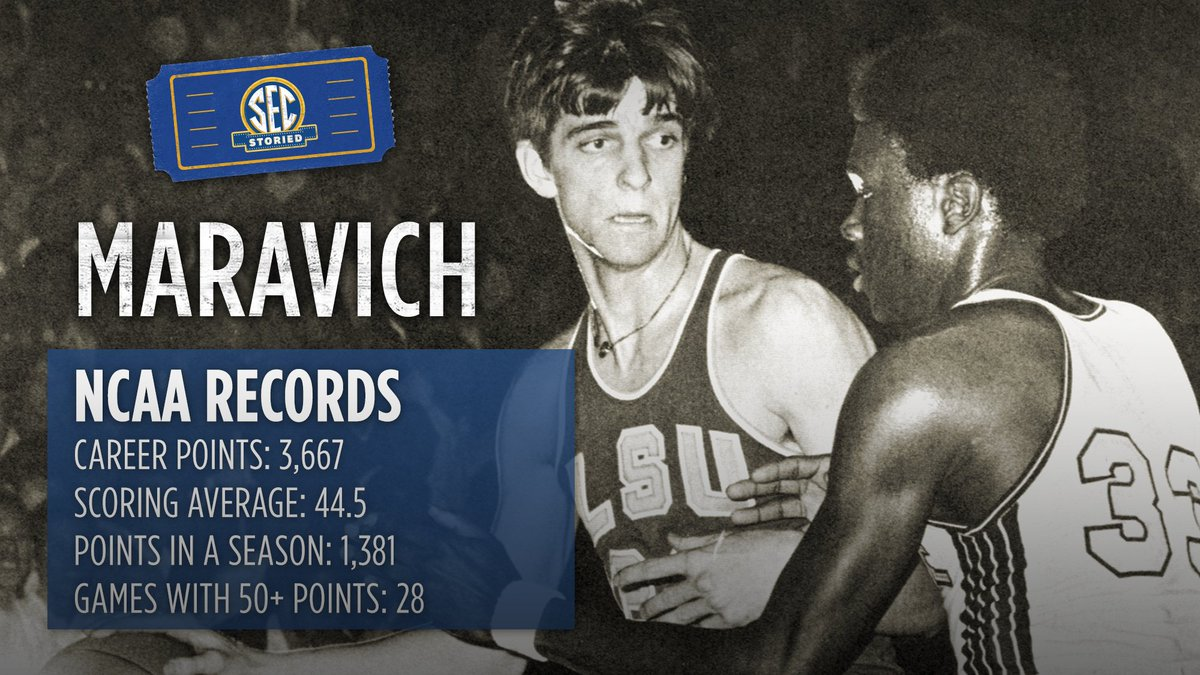 There will never be another Pete Maravich. SEC Storied: #Maravich debuts tonight at 9pm ET