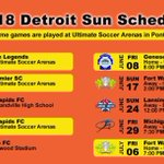 Image for the Tweet beginning: DETROIT SUN FC 2018 UWS SCHEDULE LIMITED