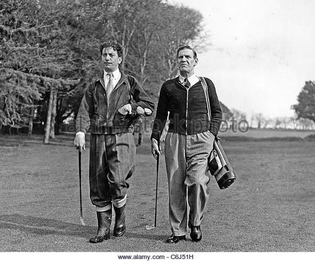 Address the ball - Sid Field and Will Hay on a golfing day out.