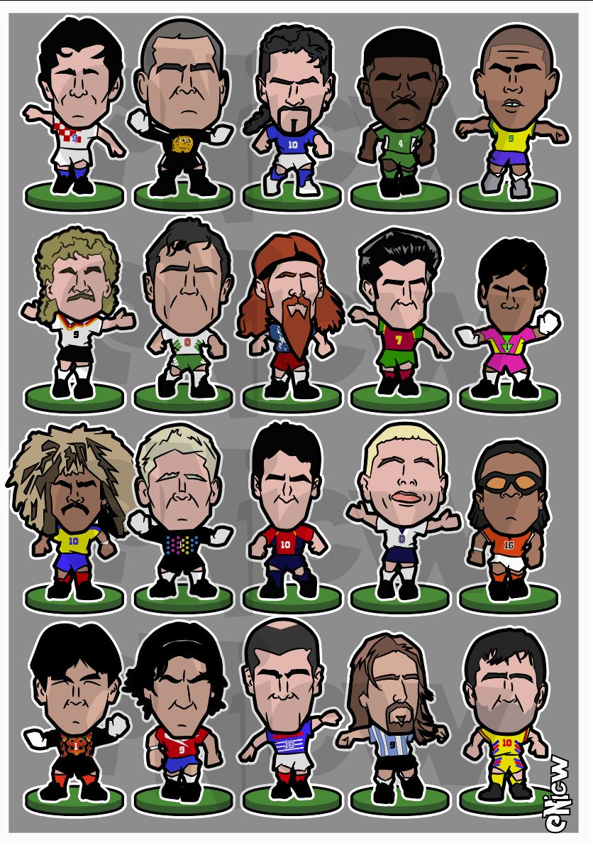 90s Football Legends - Corinthian figure style! By the brilliant @NicwMUFC.