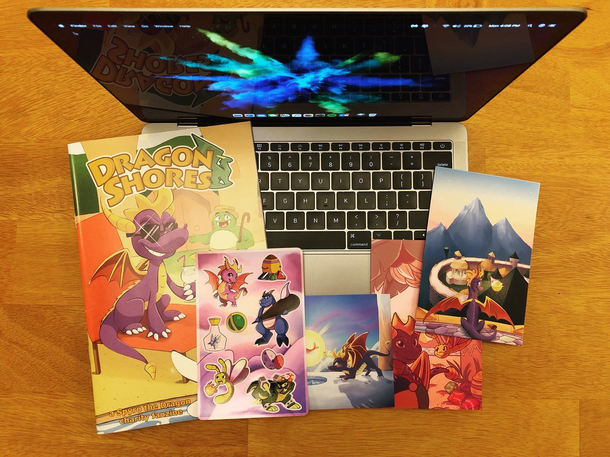 Just received my Dragon Shores fanzine the other day. Thank you so much @HauntedCosmos! The comics are beautiful! The art on each page is simply amazing!  #SpyroTheDragon #Spyro20th #RemasterSpyro