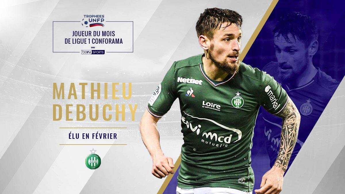 OFFICIEL ! Mathieu Debuchy est élu joueur @UNFP du mois de février en Ligue 1.